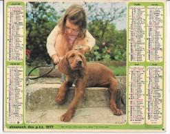 CALENDRIER - ALMANACH DES POSTES ET DES TELEGRAPHES - ANNEE 1977 - Département De SEINE ET MARNE - Calendriers