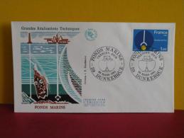 FDC- Fonds Marins - 59 Dunkerque - 28.3.1981 - 1er Jour, - FDC