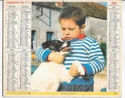 CALENDRIER - ALMANACH DES POSTES ET DES TELEGRAPHES - ANNEE 1976 - Département De SEINE ET MARNE - Calendriers