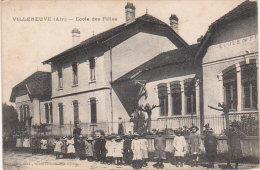 """1918   Villeneuve  """" Ecole Des Filles """" - Ohne Zuordnung"""
