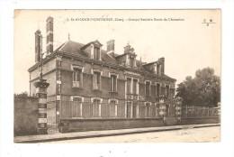 CPA : 18 -  Saint Amand Montrond - Groupe Scolaire Route De Charenton ( Ecole Mallard ) - Saint-Amand-Montrond