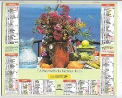 CALENDRIER - ALMANACH DES POSTES ET DES TELEGRAPHES - ANNEE 1995 - DEPARTEMENT DE SEINE ET MARNE - Big : 1991-00