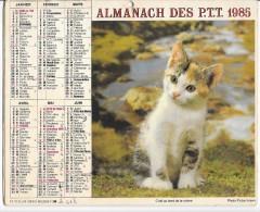 CALENDRIER - ALMANACH DES POSTES ET DES TELEGRAPHES - ANNEE 1985 - DEPARTEMENT DE SEINE ET MARNE - Big : 1981-90