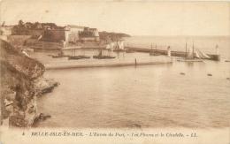 56 BELLE-ILE-EN-MER ENTREE DU PORT LES PHARES ET LA CITADELLE - LL - Belle Ile En Mer