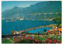 MONTREUX - PISCINE DE VILLENEUVE - CHATEAU DE CHILLON ET AUTOROUTE - VAUD 1975 - VD Vaud
