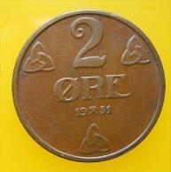 Norway 2 Ore 1951 - Noruega