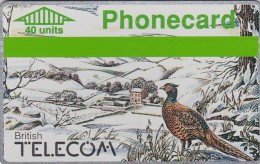 UK, BTC-012, Winter 1989 - Pheasant, Bird. - United Kingdom