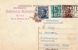 ITALIEN 1926 - 40C Ganzsache Mit 5+30C Zusatzfrankierung Auf Pk Von Rom Nach Sachsen - Ganzsachen