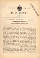 Original Patentschrift - Louis Bouchet Dans Saint Laurent Sur Sèvre , 1888 , Règlement Pour Les Horloges électriques !!! - Documents Historiques
