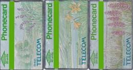 UK, BTC-020 - 022, Set Of 3 Cards, Spring ´90 - Wild Flowers.  Please Read - United Kingdom