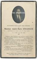 En 1921-photo De André-Marie Béranger-Image Faire-part De Décès- - Décès