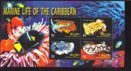 BEQUIA   368  MINT NEVER HINGED MINI SHEET OF FISH-MARINE LIFE  #  M-074-1  (  0501 - Fische