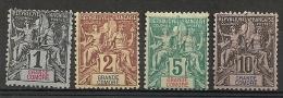Grande Comore. 1897. N° 1,2,4,5. Oblit, Neuf (*) Et *