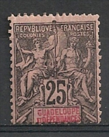 Guadeloupe. 1892. N° 34. Neuf * (charnière Forte) - Guadeloupe (1884-1947)