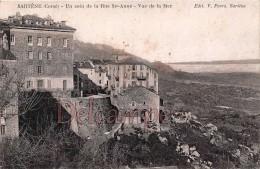 SARTENE  - CORSE -  Un Coin De La Rue Ste Anne -  Vue De La Mer - écrite 1930 - 2 Scans - Autres Communes