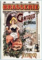 Affiche Sur Carte Postale - Avignon - Bière Cartoux - Reclame