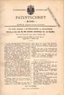 Original Patentschrift - Dr. Karl Möller In Kupferhammer B. Brackwede , 1885 , Gas- Und Dampffilter , Bielefeld !!! - Maschinen