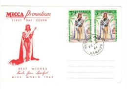 Giamaica, Jamaica 1964 -FDCMecca Promotions: Miss Mondo (Carole Joan Crawford). Annullo Harbour View - Giamaica (1962-...)
