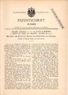 Original Patentschrift - H. Gérard Und A. Schneider In Mont St. Pont Sous Braine L'Alleud , 1885 , Maschine Für Gewebe ! - Machines