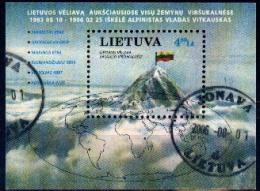 Lituania 1997 BF11 Used. Bandera Lituana En La Cima Del Monte. Lithuanian Flag At The Top Of The Mountain. - Geologia