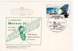 GERMANIA DDR 1981 - Anniversario Satellite  METEOR 25 -Dresden - Europa