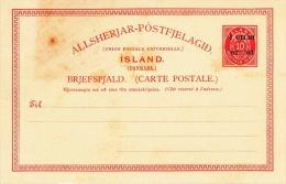 ISLAND1895? - 10 Au Ganzsache ** Mit Wertüberdruck Ungebraucht - Island