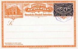GUATEMALA 1897 - 3 Centavos Ganzsache Auf Postkarte Gestempelt - Guatemala