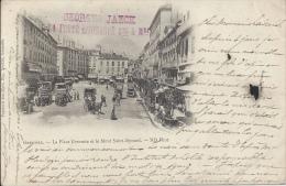 38 - GRENOBLE - Isère - La Place Grenette Et Le Mont Saint-Eynard - Grenoble
