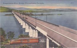 14 / 5 / 5  65  -  SUSQUEHANNA  RIVER  BRIDGE  JUST  BELOW  HARRISBUG  ON  THE PENNSYLVANIA  TURNPIKE - Lancaster