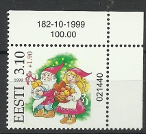 ESTLAND Estonia Estonie 1999 Christmas Weihnachten + Lottery Overprint  MNH - Christmas