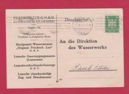 ENTIER POSTAL //  DRUCKSACHE  //  LUDWIGSHAFEN POUR SIERK  //  11/9/1924 - Private