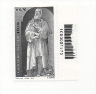 Fra553 450° Anniversario Nascita Galileo Galilei, Astronomia Astronomy, Codice A Barre Evanescente Errore Varietà, Error - 6. 1946-.. Repubblica
