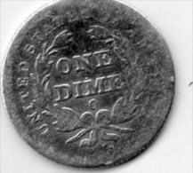 - UNITED STATES - ONE DIME O - 1839 - 129 - Monnaies