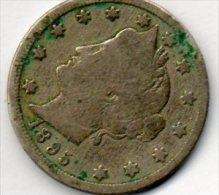 - UNITED STATES - 5 CENTS  1895 - 131 - Monnaies