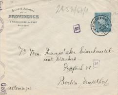 347/22 --  FRANC MACONNERIE - Lettre TP Poortman PERFORE Triangle - MARCHIENNE AU PONT 1942 vers BERLIN