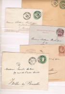 Belgica. Conjunto De 5 Dobres Con Sellos Impresos - Belgique