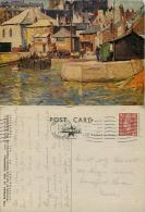 Harbour, St Ives, Cornwall, England Postcard Posted 1951 Stamp John A Park Star Textured Art Card - St.Ives
