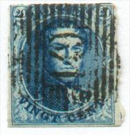 N°4 - Médaillon 20 Centimes Bleu, Touché En Haut Sinon, Oblitération P.149 SOLRE-sur-SAMBRE Posthume.  Rare  - 9951 - 1849-1850 Médaillons (3/5)