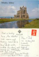 Whitby Abbey, Yorkshire, England Postcard Posted 1996 Stamp Judges - Whitby