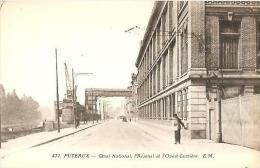 CPA - PUTEAUX - QUAI NATIONAL, L'ARSENAL ET L'OUEST-LUMIERE - Editions E.M / N°431 - Puteaux