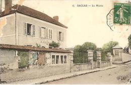 CPA - SACLAS - LA MAIRIE - Edition E.L.D./N°6 (coin Abîmé En L'état) - Autres Communes