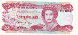 Bagamas 3 Dollars 1974 Pick 44 UNC - Bahamas