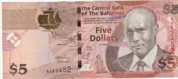 Bagamas 5 Dollars 2007 Pick 72 UNC - Bahamas