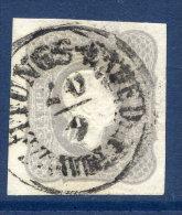 AUSTRIA 1861 1.05 Kr Dark Grey Newspaper Stamp Used, With Certificate - Journaux