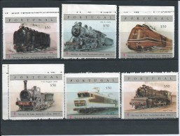 6 Vignettes SERVICE TO FIGHT Antituberculosis-IANT 1976/7.Portugal.Vignettes $50 Each Reproduce Trains Used By CP.Good - Local Post Stamps