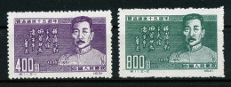 A2705) PR China Mi.127-128 Ungebraucht Unused - 1949 - ... Volksrepublik