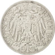 [#40602] Allemagne, Empire, Guillaume II, 25 Pfennig, 1909 A, KM 18 - [ 2] 1871-1918 : Imperio Alemán
