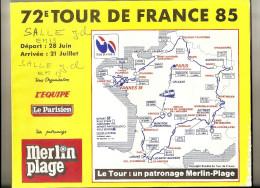 TOUR DE FRANCE  1985    -   Road Book 128 Pages - Format 28  X 23  . ( + Port ) - Cycling