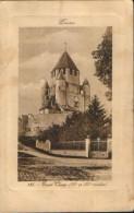 France-Carte Postale Circule En 1911 - Provins - Tour Cesar - 2/scans - Provins