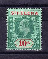 St Helena 1908 S.G. # 71 * Höchster Wert Edward - Sainte-Hélène